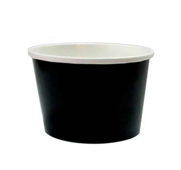 Papirnata posuda za juhu 500 ml d=98 mm h=99 mm crna (50 kom/pak)