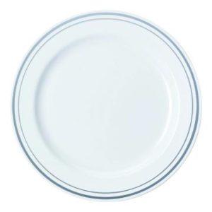 Poslužavnik Sabert PS d=23 cm bijeli sa srebrnom bordurom (90 kom/pak)