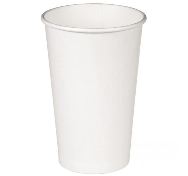 Čaša papirnata 400 ml d=90 mm 1-slojna bijela (50 kom/pak)