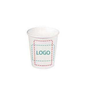 Čaša papirnata jednoslojna 165 (185) ml d=73mm za topla pića bijela (80 kom/pak)