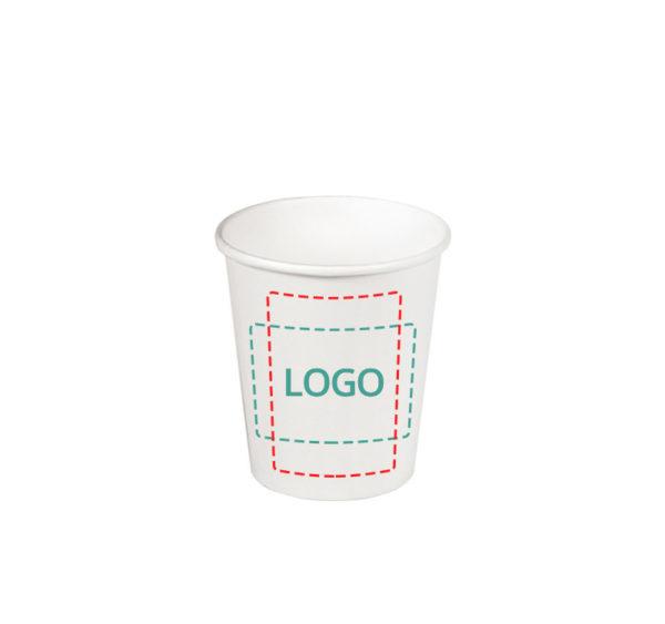 Čaša papirnata 165 ml d=73 mm 1-slojna bijela (80 kom/pak)
