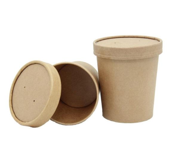 Posuda papirnata za juhu Tambien ECO 440 ml d-97 mm, h-100 mm, Kraft (25 kom/pak)