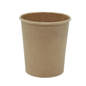 Posuda papirnata za juhu Tambien ECO 440 ml d-97 mm, h-100 mm, Kraft s poklopcem, 25 kom (komplet)
