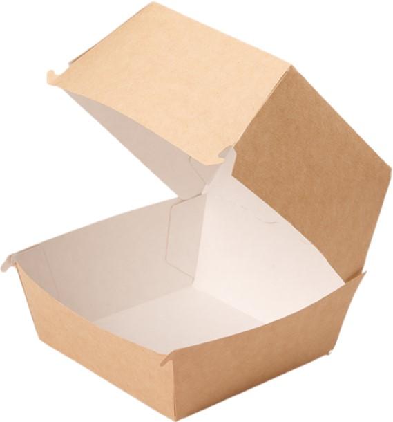 Kutija za hamburger ECO BURGER 130x130x110 mm kraft (150 kom/pak)
