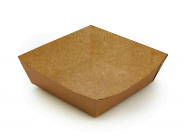 Papirtnata plitica ECO TRAY 550 ml 110x110x42 mm kraft (300 kom/pak)