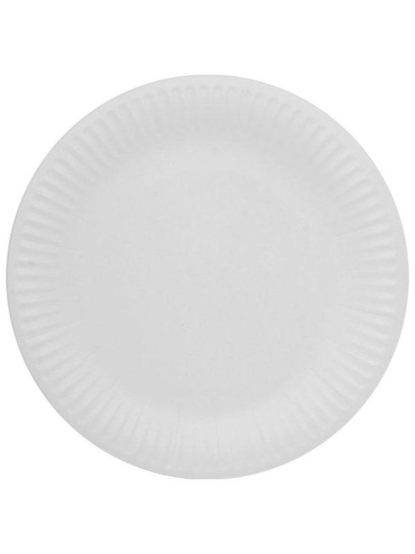Papirnati tanjur d=230 mm Snack Plate bijeli laminiran (100 kom/pak)