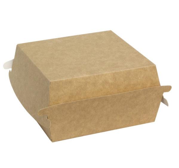 Burger embalaža Combi box 120x120x70 mm kraft (50 kom/pak)