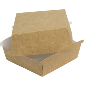 Burger embalaža Combi box 120x120x70 mm kraft (50 kom/pak)