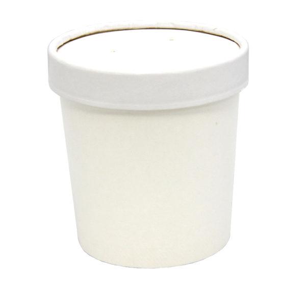 Papirnata posuda za juhu Tambien ECO 340 ml d=90 mm h=85 mm bijela (50 kom/pak)