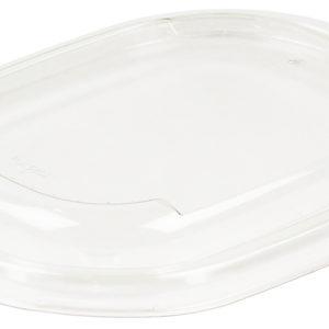 Poklopac za posudu PULP Sabert oval 15x19cm, PET (50 kom/pak)