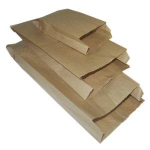 Papirnata vrećica 140x60x370 mm kraft (2000 kom/pak)
