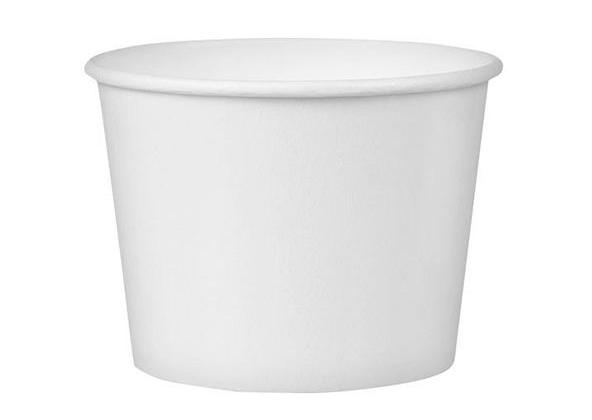Posudica papirnata 245ml d = 93 mm, h = 55 mm, bijela s poklopcem, 50 kom (komplet)