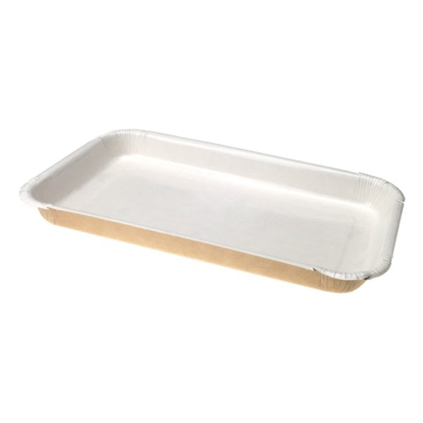Papirnata ladica ECO PLATTER 400 ml 220x140x20 mm (sa stranicama) (300 kom/pak)