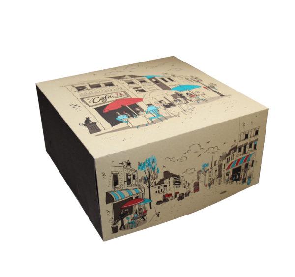 Kutija za tortu 300х300mm 2kg Randevu (poklopac) (100 kom/pak)