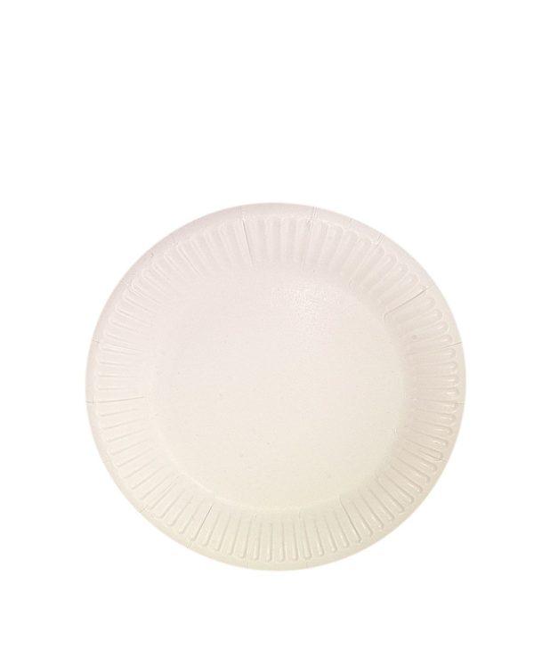 Papirnati tanjur d = 230 mm Snack Plate, beli biolaminiran (100 kom/pak)
