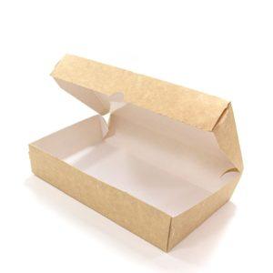 Posuda papirna Meal Box 1000 ml 200x120x40 mm kraft (50 kom/pak)