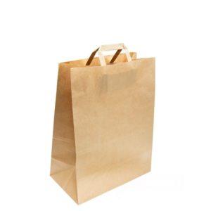 Papornata vrećica sa ravnom ručkom 280x150x320 mm kraft (250 kom/pak)