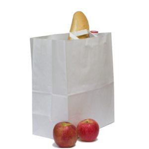 Papornata vrećica sa ravnom ručkom 320x200x370 mm kraft (200 kom/pak)