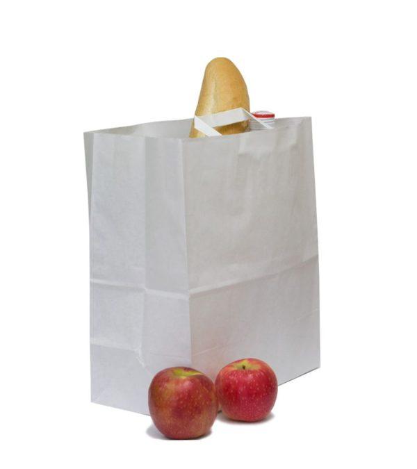 Papirnata vrećica sa ravnom ručkom 320x200x370 mm kraft (200 kom/pak)
