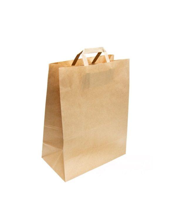 Papirna vrećica kraft 350x150x450 mm, s ravnim ručkama