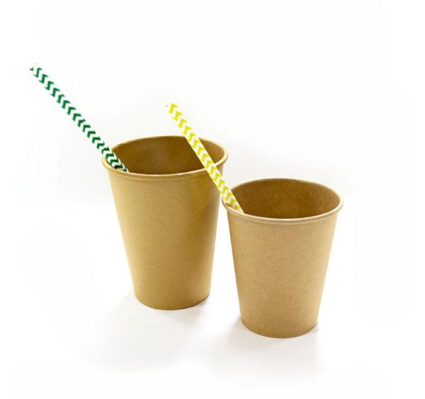 Čaša papirnata 1sl 250 (273) ml d = 80 mm Kraft / Kraft (50 kom/pak)