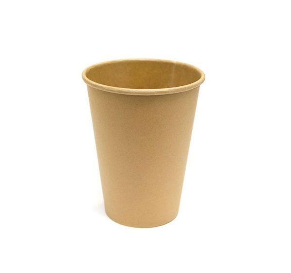 Čaša papirnata 250 ml d=80 mm 1-slojna kraft/kraft (50 kom/pak)