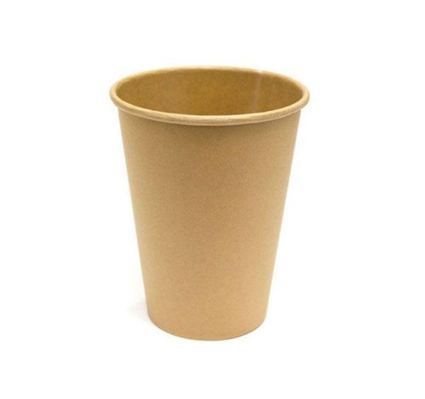 Čaša papirnata 300 ml d=90 mm 1-slojna kraft/kraft (50 kom/pak)