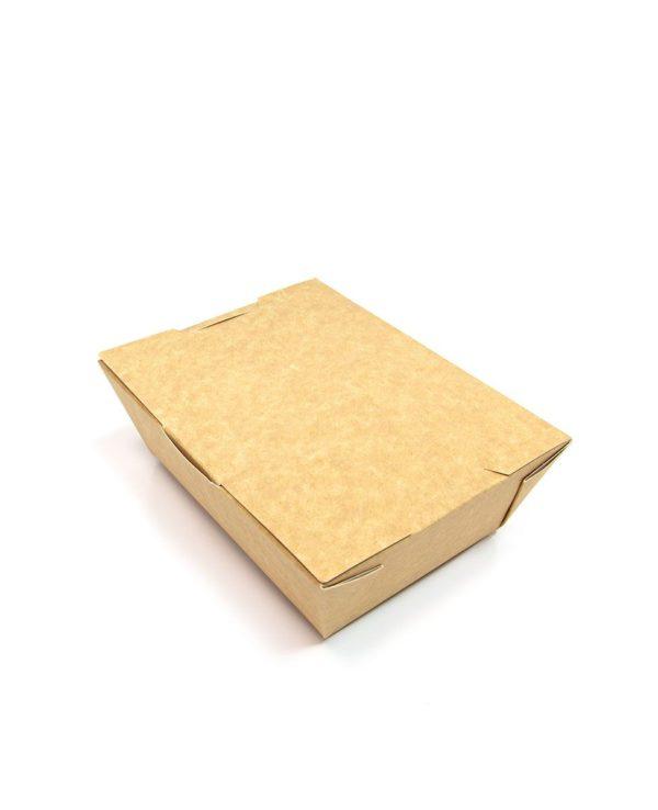 Papirnata kutija Lunch2Go 1000 ml 190x150x50 mm kraft (80 kom/pak)