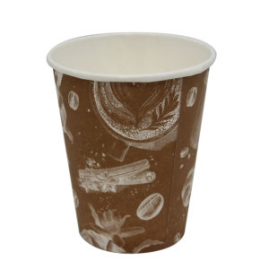 "Čaša papirnata 250 ml d=80 mm 1-slojna ""Barista"" Cappuccino (50 kom/pak)"