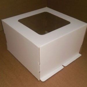 Kutija za tortu 300x300x250 mm bijela valovit karton, 50 kom (komplet)