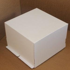 Kutija za tortu 420x420x290 mm bijela valovit karton, 25 kom (komplet)
