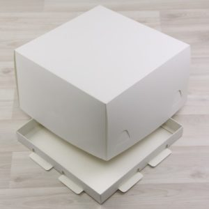 Kutija za tortu 250x250x150 mm bijela, poklopac+dno (300 kom/pak)