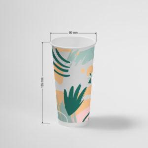 Čaša papirnata 500 ml d=90 mm 1-slojni Hawaii za hladna pića (40 kom/pak)