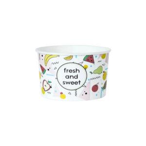 Papirnata posuda 130 ml d=75 mm h = 47 mm Fresh&Sweet (25 kom/pak)