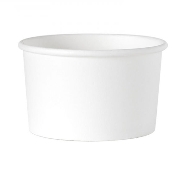 Papirnata posuda 245 ml d=93 mm h=55 mm bijela (25 kom/pak)