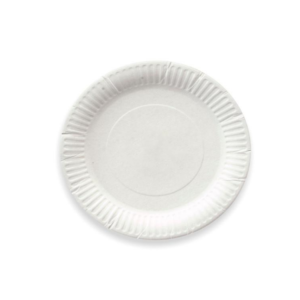 Papirnati tanjur d=170 mm bijeli glaziran (100 kom/pak)