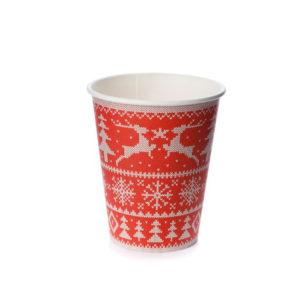 Čaša 300 ml papirnata d=90mm za topla pića Zimski uzorci