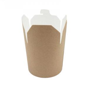 Kutija od papira Wok 103х88х92mm 450ml Kraft, okruglo dno