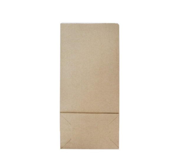 Vrećica papirnata s prozorom 80 х50х170 mm kraft (600 kom/pak)