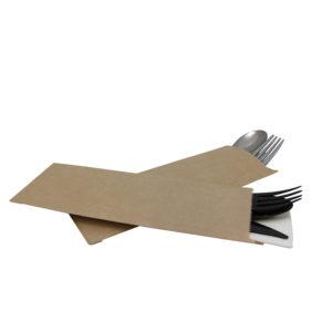Omotnica/koverta za pribor za jelo 220×80 mm, kraft