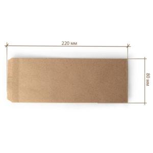 Papirnati uložak za pribor 220×80 mm kraft (2000 kom/pak)