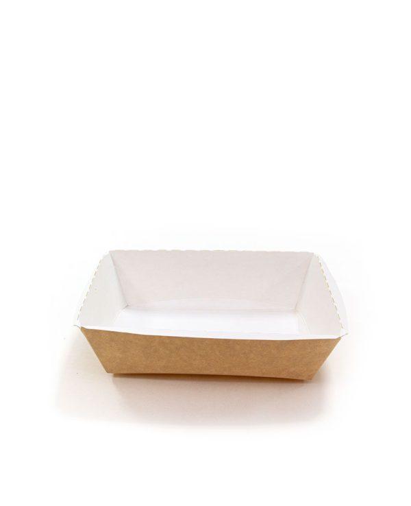Papirnata posuda bez poklopca Crystal Box 500 ml 160x120x45 mm kraft (125 kom/pak)