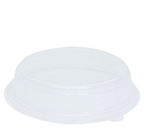 Posuda papirnata 750 ml d=150mm, h=60mm kraft za salatu s poklopcem kupola, 500 kom (komplet)