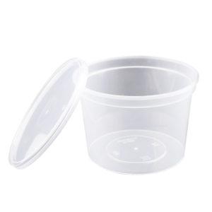Posuda za sos PP 250 ml s poklopcem, 50 kom (komplet)