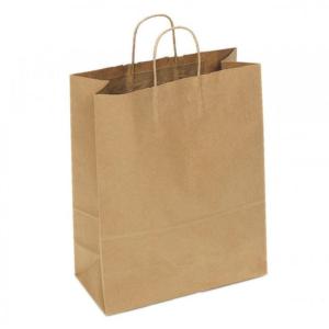 Papirnata vrećica s pletenom ručkom 320х180х430 mm kraft