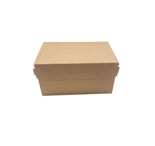 Papirnata posuda ECO CAKE 1200 ml 150x100x85 mm kraft (250 kom/pak)