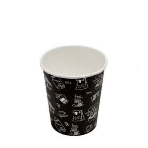 Čaša papirnata 250 ml d=80 mm 1-slojna crna Complement (50 kom/pak)