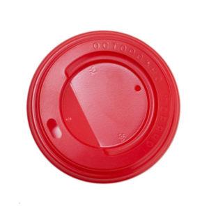 Poklopac s rupom PS d=80 mm crveni (100 kom/pak)