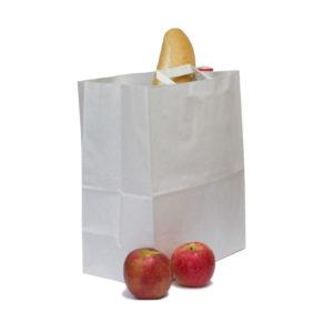 Papornata vrećica sa ravnom ručkom 280x150x320 mm bijela (250 kom/pak)