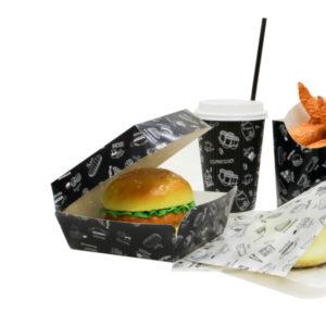 Kutija za hamburger Complement Black 120х120х100 mm
